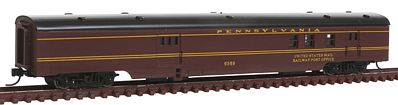 Con-Cor 85' Smooth-Side Railway Post Office Pennsylvania -- N Scale Model Train Passenger Car -- #40121