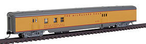 Con-Cor 85 Passenger Car RPO Milwaukee Yellow N Scale Model Train Passenger Car #40142