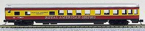 Con-Cor 85 Smooth-Side Observation Royal American Shows N Scale Model Train Passenger Car #40173