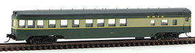 Con-Cor 85 Smooth-side observation Erie N Scale Model Train Passenger Car #40198