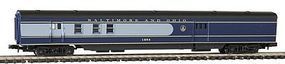 Con-Cor 85 Smooth Side Passenger RPO Baltimore & Ohio N Scale Model Train Passenger Car #402123