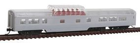 Con-Cor 85 Smooth-Side Mid-Train Dome Undecorated N Scale Model Train Passenger Car #40220