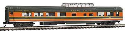 Con-Cor 85' Smooth-Side Mid-Train Dome Great Northern -- N Scale Model Train Passenger Car -- #40224