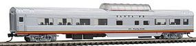 Con-Cor 85 Smooth-Side Mid-Train Dome Santa Fe N Scale Model Train Passenger Car #40227