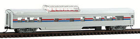 Con-Cor 85 Passenger dome car Amtrak II N Scale Model Train Passenger Car #40229