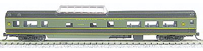 Con-Cor 85' Smooth-Side Mid-Train Dome Canadian Nation -- N Scale Model Train Passenger Car -- #40237
