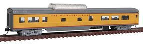 Con-Cor 85 Smooth-Side Mid-Train Dome Milwaukee Road N Scale Model Train Passenger Car #40242