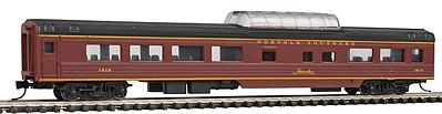 Con-Cor 85' Smooth-Side Mid-Train Dome Norfolk Souther -- N Scale Model Train Passenger Car -- #40244
