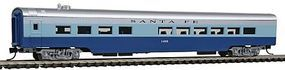 Con-Cor 85 Smooth-Side Diner Santa Fe N Scale Model Train Passenger Car #40302