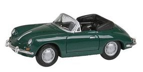 Con-Cor Porsche 356 Convertible (green) HO Scale Model Railroad Vehicle #4033
