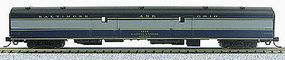 Con-Cor 85 Smooth-Side Full Baggage Baltimore & Ohio N Scale Model Train Passenger Car #40340