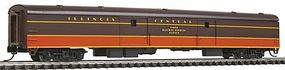 Con-Cor 85 Smooth-Side Full Baggage Illinois Central N Scale Model Train Passenger Car #40349
