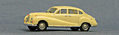 Con-Cor BMW 502 Limo 1950 (Ivory) -- HO Scale Model Railroad Vehicle -- #4036