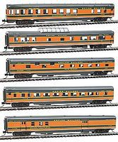 Con-Cor 85 Smooth-Side 5-Car Set Great Northern Empire Builder N Scale Model Passenger Car #40374