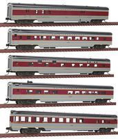 Con-Cor 85 Smooth-Side 5-Car Set Erie Lackawanna N Scale Model Train Passenger Car #40380