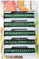 Con-Cor 85 Smooth-Side 5-Car Set Southern N Scale Model Train Passenger Car #40381