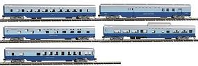 Con-Cor 85 Smooth-Side 5-Car Set Santa Fe N Scale Model Train Passenger Car #40402