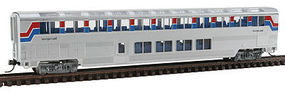 Con-Cor 85 Superliner lounge Amtrak phase II N Scale Model Train Passenger Car #40661