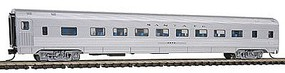 Con-Cor Budd 85 Corrugated-Side Coach Santa Fe N Scale Model Train Passenger Car #41251