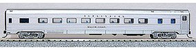 Con-Cor Budd 85 Corrugated-Side Coach Chicago, Burlington & Quincy N Scale Model Passenger Car #41255