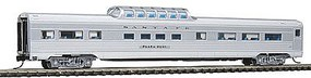 Con-Cor Budd 85 Corrugated-Side Mid-Train Dome Santa Fe N Scale Model Train Passenger Car #41351