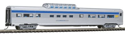 Con-Cor Budd 85' Corrugated-Side Mid-Train Dome VIA Rail Canada -- N Scale Model Passenger Car -- #41363