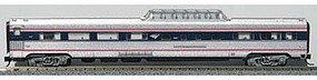 Con-Cor Budd 85 Fluted-Side Mid-Train Dome Amtrak #9402 N Scale Model Train Passenger Car #41367