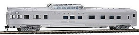 Con-Cor Budd 85 Corrugated-Side Dome-Observation Santa Fe N Scale Model Train Passenger Car #41376