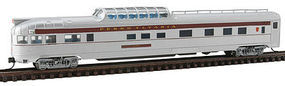 Con-Cor Budd 85 Dome/Observation Pennsylvania RR N Scale Model Train Passenger Car #41378