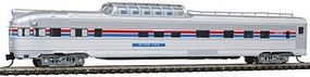 Con-Cor Budd 85 Corrugated-Side Dome-Observation Amtrak N Scale Model Train Passenger Car #41384