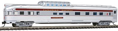 Con-Cor Budd 85' Corrugated-Side Dome-Observation Canadian Pacific -- N Scale Model Passenger Car -- #41385