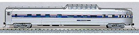 Con-Cor Budd 85 Corrugated-Side Dome-Observation Amtrak N Scale Model Train Passenger Car #41386