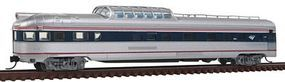 Con-Cor Budd 85 Fluted-Side Dome-Observation Amtrak #3344 N Scale Model Train Passenger Car #41393
