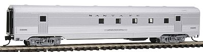 Con-Cor Budd 72' Corrugated-Side Railway Post Office Santa Fe -- N Scale Model Train Passenger Car -- #41426