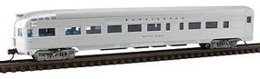 Con-Cor Budd Round End Observation Car CB&Q N Scale Model Train Passenger Car #41505