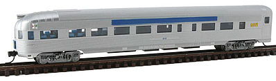 Con-Cor Budd Round End Observation Car VIA -- N Scale Model Train Passenger Car -- #41513