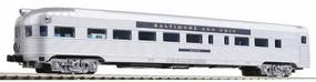 Con-Cor Budd Streamlined Round End Observation Baltimore & Ohio N Scale Model Passenger Car #430106