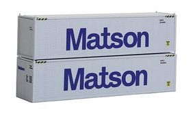 Con-Cor 40 Hi-Cube Container 2-Pack Matson Set #2 N Scale Model Train Freight Load #443004
