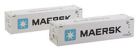 Con-Cor 40 Container Maersk #2 (2) N Scale Model Train Freight Car Load #443108