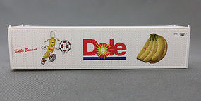 Con-Cor 40 Dole Reefer Container Soccer #1 N Scale Model Train Freight Car Load #443115