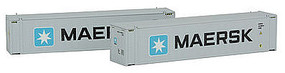 Con-Cor 45 Container Maersk Lg #1 (2) N Scale Model Train Freight Car Load #444001