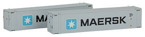 45' Container Maersk Lg #2 (2) N Scale Model Train Freight Car Load #444002