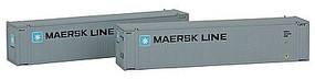 Con-Cor 45 Container Maersk Med #1 (2) N Scale Model Train Freight Car Load #444005