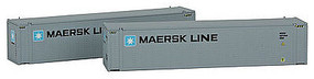Con-Cor 45 Container Maersk Med #2 (2) N Scale Model Train Freight Car Load #444006