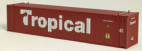 Con-Cor 45 Container Tropical #2 (2) N Scale Model Train Freight Car Load #444104
