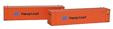 Con-Cor 45' Container Hapag Lloyd (2) -- N Scale Model Train Freight Car Load -- #444113