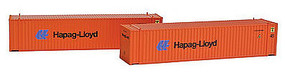 Con-Cor 45' Container Hapag Lloyd (2) N Scale Model Train Freight Car Load #444113
