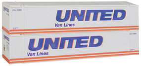 Con-Cor 48 Container United Van Lines #2 N Scale Model Train Freight Car #448018