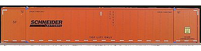 Con-Cor Monon 53' Rivet-Side Container 2-Pack Schneider -- N Scale Model Freight Car -- #453025