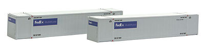 Con-Cor Monon 53' Rivet-Side Container 2-Pack FedEx Set #1 -- N Scale Model Freight Car -- #453035